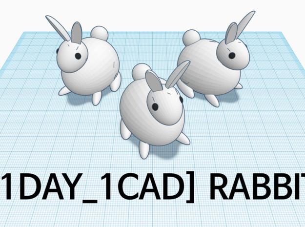 [1DAY_1CAD] RABBIT in White Premium Versatile Plastic