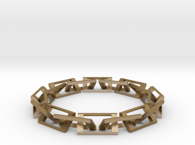 [1DAY_1CAD] CHAIN RING in Polished Gold Steel
