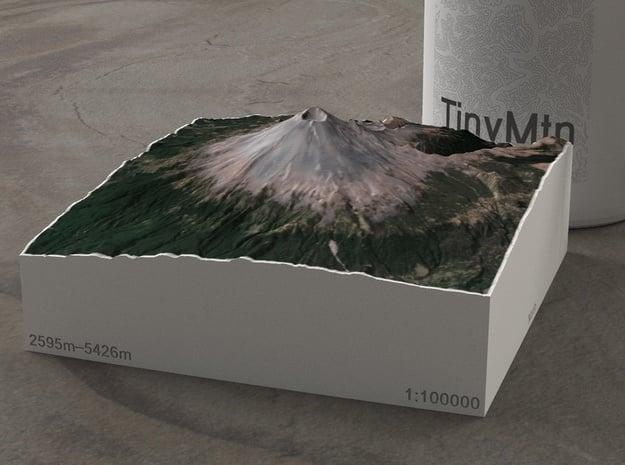 Popocatépetl, Mexico, 1:100000, Explorer in Natural Full Color Sandstone
