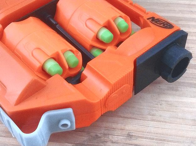 Modulus Barrel Adapter for FlipFury in Orange Processed Versatile Plastic