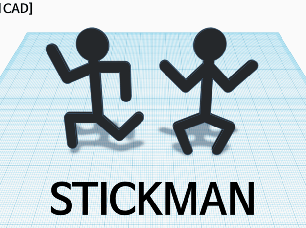 [1DAY_1CAD] STICKMAN_RUNNIG in Green Processed Versatile Plastic