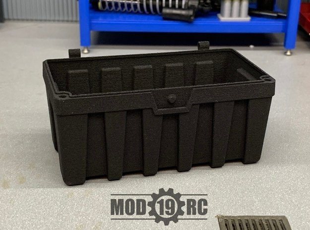Tuff Box Base (Full Depth) in Black Natural Versatile Plastic