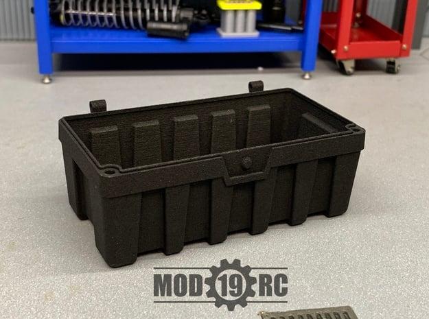 Tuff Box Base (Half Depth) in Black Natural Versatile Plastic