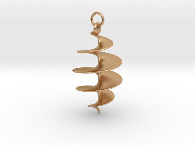 Spiral Pendant in Natural Bronze