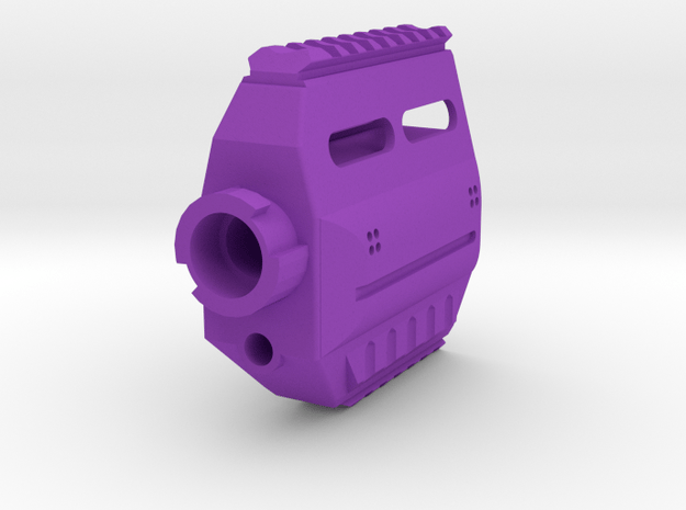 Fusion 360 Modulus Front End for Nerf Stryfe in Purple Processed Versatile Plastic