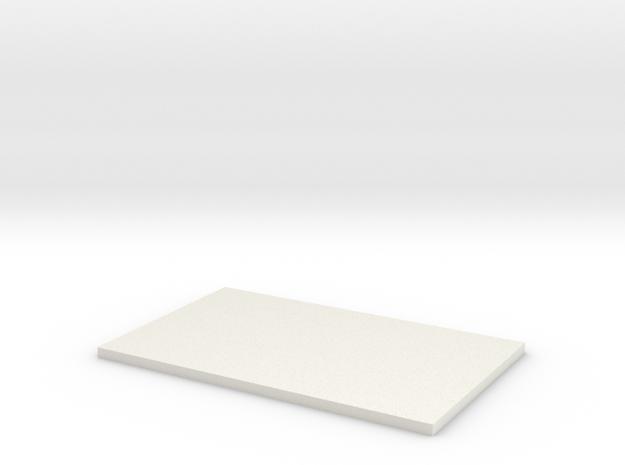Blank Plaque #1 in White Natural Versatile Plastic