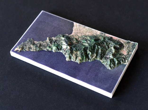Amalfi Coast, Campania, Italy, 1:250000 in Natural Full Color Sandstone