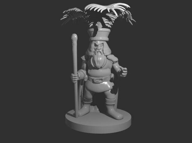 Dwarf Druid with Fern Headdress in Smooth Fine Detail Plastic