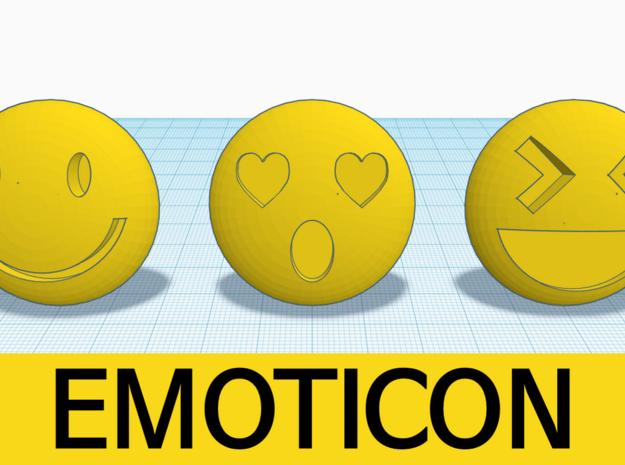 [1DAY_1CAD] EMOTICON_smile in Yellow Processed Versatile Plastic