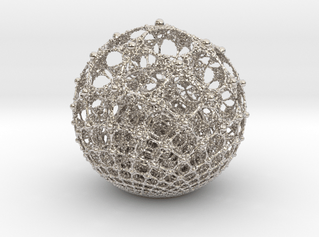 aumegasphere in Rhodium Plated Brass