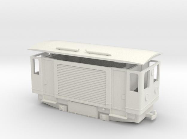 AD1p rail cleaning diesel cargo railcar H0e / 009  in White Natural Versatile Plastic