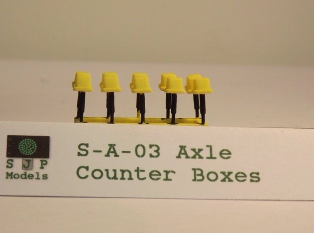 S-A-03 Axle Counters in Yellow Processed Versatile Plastic