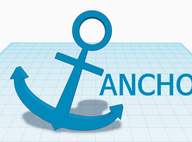 [1DAY_1CAD] ANCHOR in Blue Processed Versatile Plastic