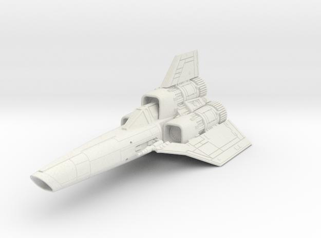 "Battlestar Galatica '78 Single Seat Viper 4.8"" in White Natural Versatile Plastic"