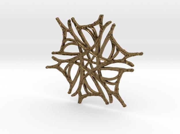 :Nature Dance V: Pendant in Natural Bronze