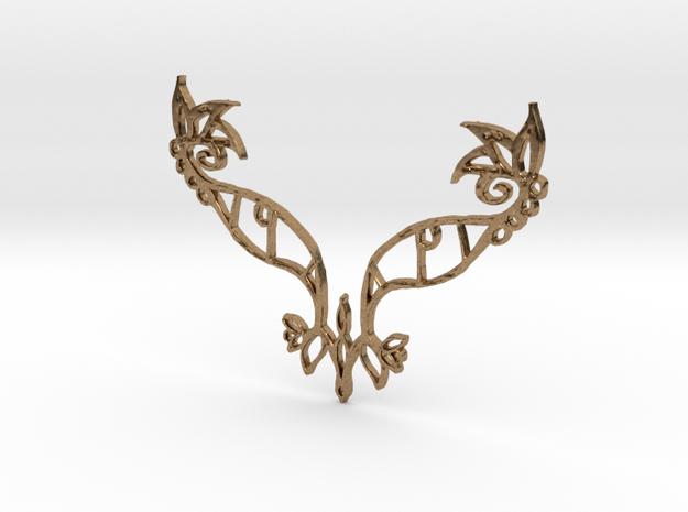 :Eyespell: Pendant in Natural Brass