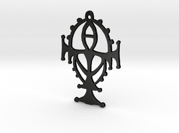 :Shadowsight: Pendant in Matte Black Steel
