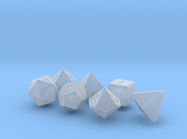 Elizabeths_Dice_Set_rounded_edges in Smoothest Fine Detail Plastic