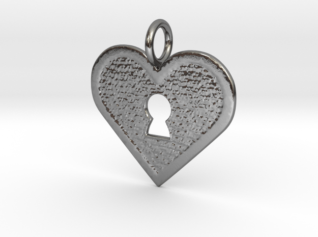 Key to my heart in Polished Silver
