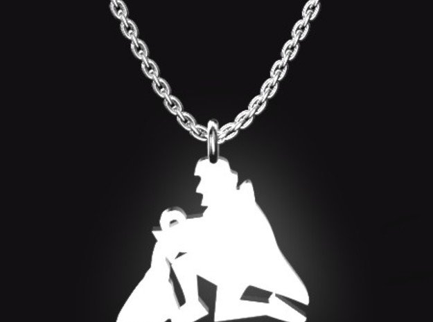 AQUARIUS for 1/20~2/18 birth. in Polished Bronzed Silver Steel