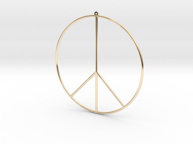 PEACE EARRiNG in 14K Yellow Gold