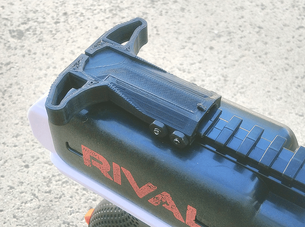M27 Priming Handle (Short) for Nerf Rival Heracles in Purple Processed Versatile Plastic