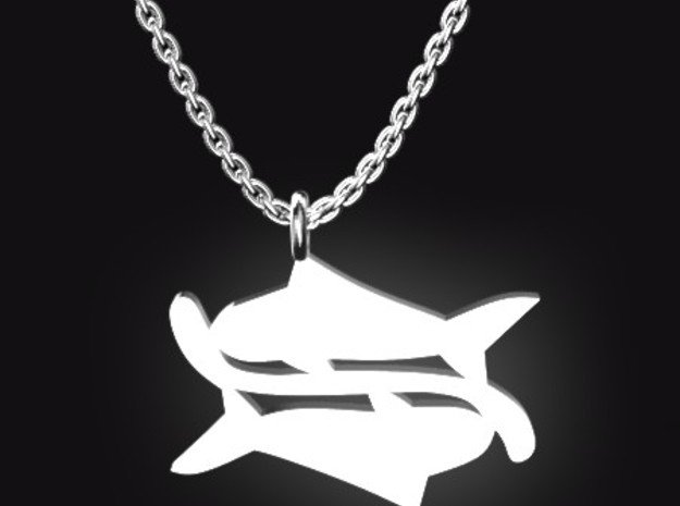 PISCES for 2/19~3/20 birth. in Polished Bronzed Silver Steel