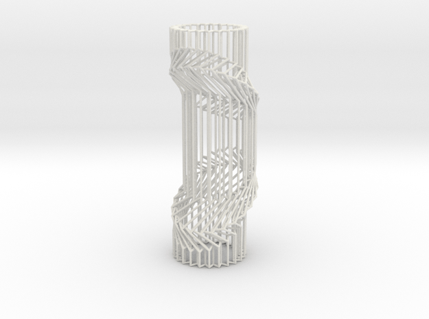 Wire Cylinder Zig-Zag with Double Diagonal Shift