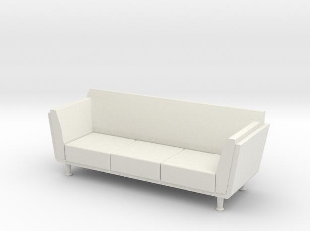1:24 Goetz Sofa in White Natural Versatile Plastic