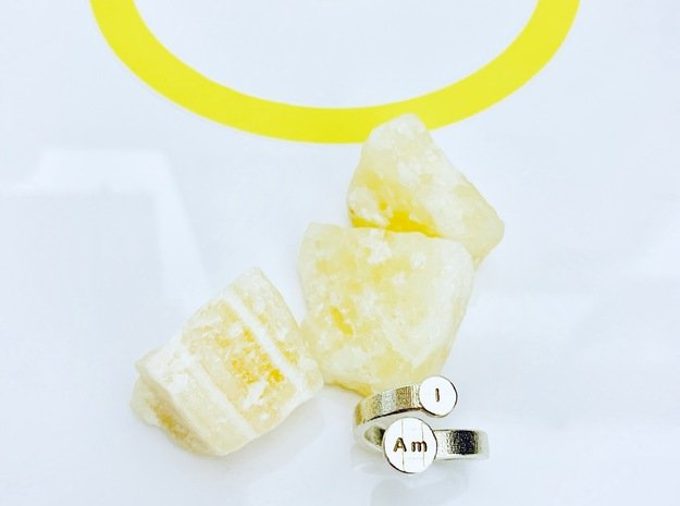 I Am Bypass Ring - Size 6.5 ONLY in Natural Silver