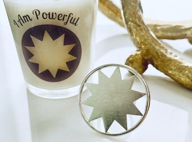 Super P O W E R Ring in Natural Silver: 7 / 54