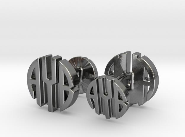 AYB Cufflinks in Polished Silver