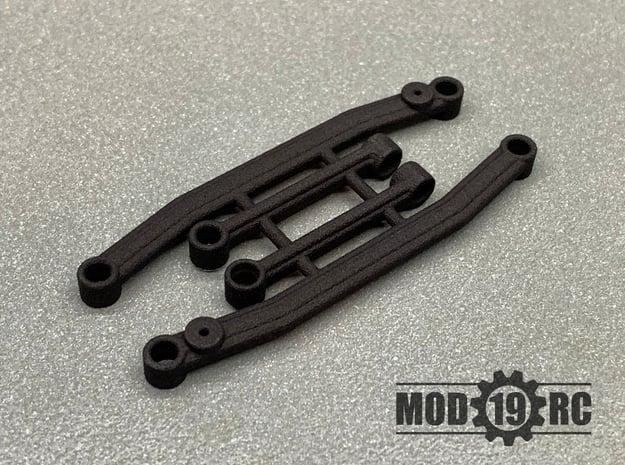 SCX24 Improved Steering Linkage Set in Black Natural Versatile Plastic