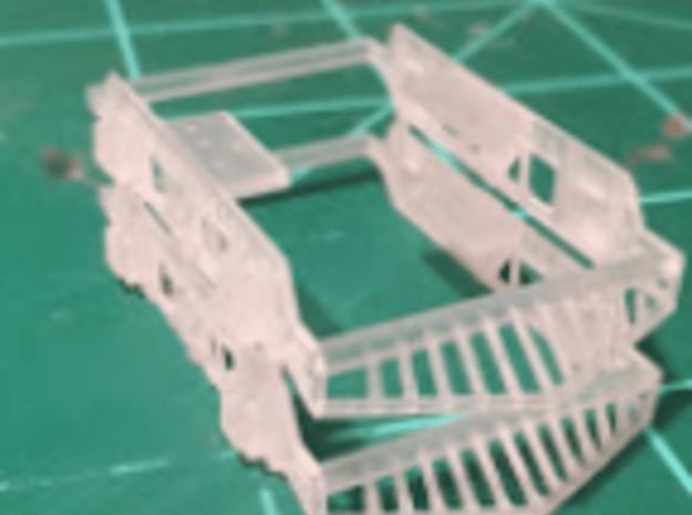 Curtis Truck Side Frame x2 HO Bowser Mech in Smooth Fine Detail Plastic