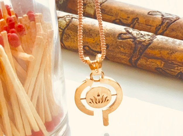 Think-Do-Be Pendant in Natural Bronze (Interlocking Parts)