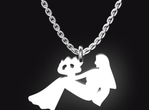 VIRGO for 8/23~9/22 birth.  in Polished Bronzed Silver Steel
