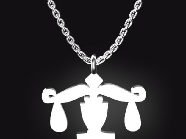 LIBRA for 9/23~10/23 birth day.  in Polished Bronzed Silver Steel