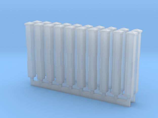 Monon Standard Milepost N-Scale in Smooth Fine Detail Plastic