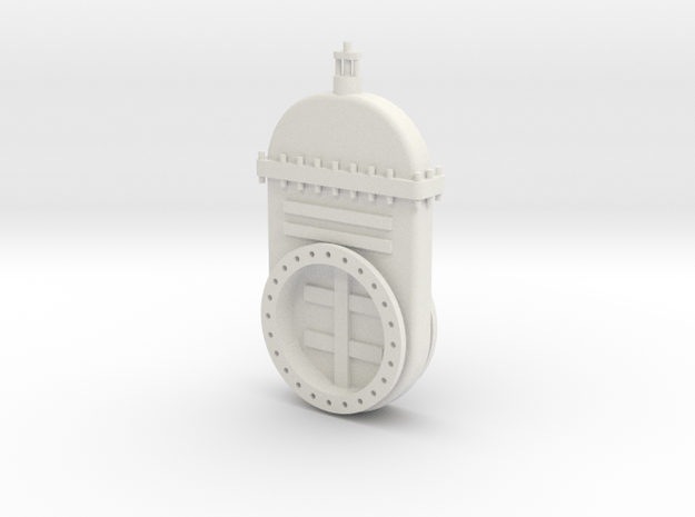 Absperrschieber 1000mm - 1:35 in White Natural Versatile Plastic
