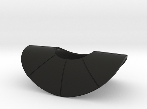 Commander Ganch's Style Pauldron in Black Natural Versatile Plastic