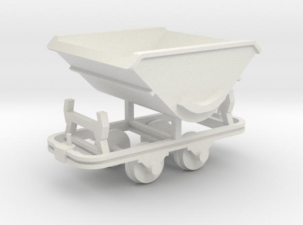Feldbahn Kipplore - 1:35 in White Natural Versatile Plastic