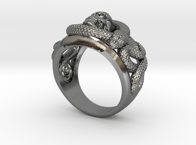 Skull and snakes ring