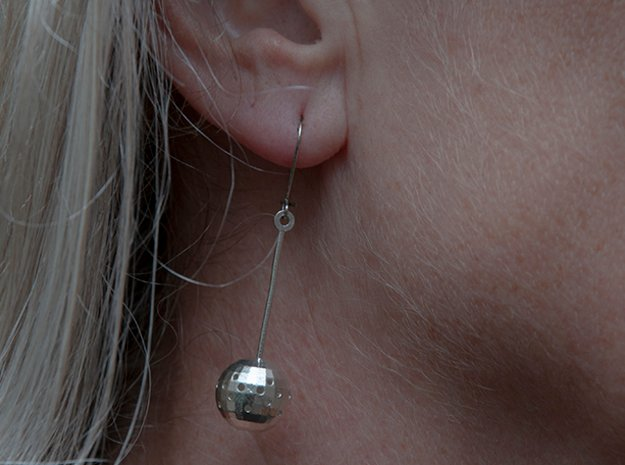 TINKR (long) EARRiNG in Natural Silver (Interlocking Parts)