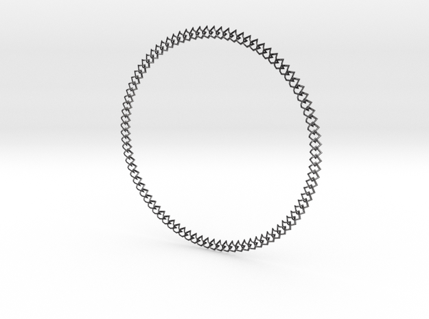 NECKLACE 2019 in Polished and Bronzed Black Steel