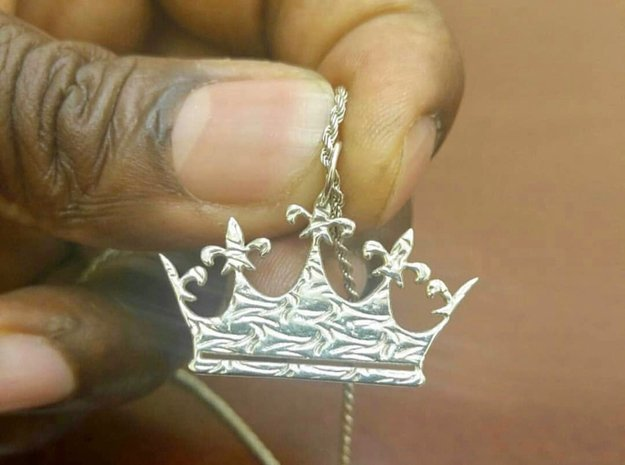 Queen's Crown (with All KaPs crust) in Polished Silver