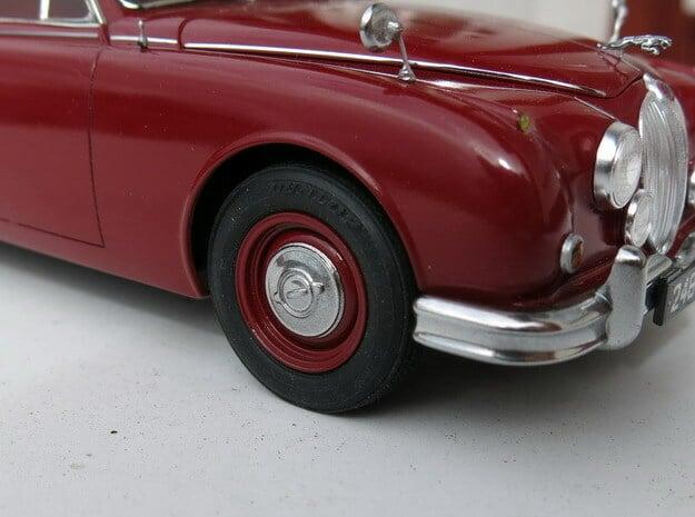 Jaguar Mk2 steel wheels in Smoothest Fine Detail Plastic