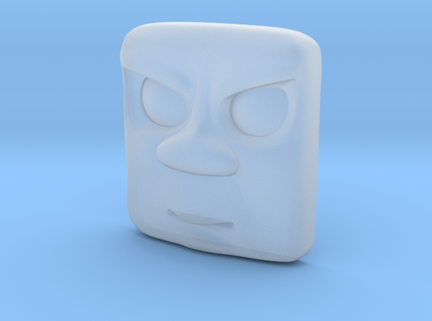 Splodge Mad Face - N in Smoothest Fine Detail Plastic