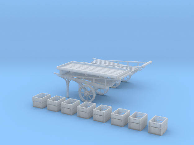 Market Stall Push Carts in Smooth Fine Detail Plastic