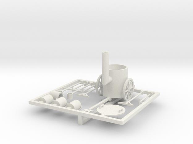 Teerkocher 1:35 in White Natural Versatile Plastic