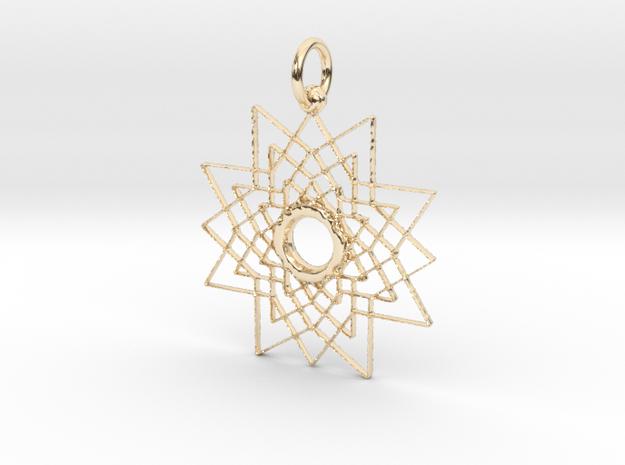 Superstar Pendant - Keychain in 14k Gold Plated Brass